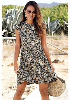 Tiered Floral Mini Dress product image (X29511BKYL_1)