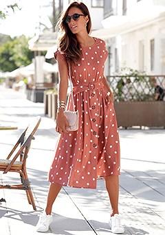 Belted Polka Dot Dress product image (X29516.MVDT_1)