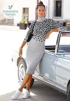 Leopard Midi Dress product image (X29530BKGY_1.2)