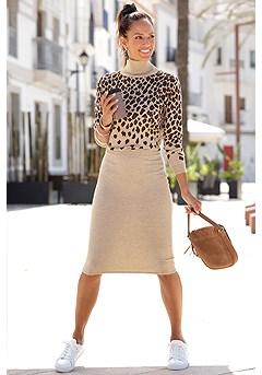 Leopard Midi Dress product image (X29530CGBK_1)