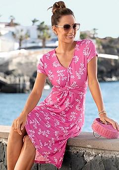 Short Sleeve Floral Dress product image (X29534PKMU_1)