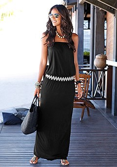 Bandeau Waist Maxi Dress product image (X30002-BK_01)