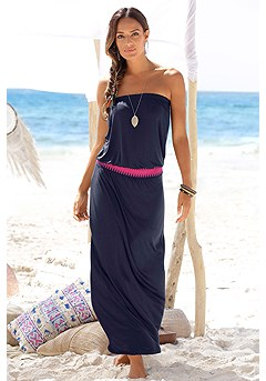 Bandeau Waist Maxi Dress product image (X30002-NV-00)