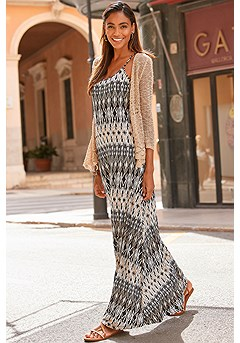 Crossed Strap Maxi Dress product image (X30003-BKCR)
