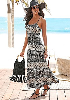 St. Tropez Maxi Dress product image (X30003-BKCR_01)