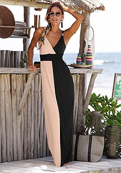 Strap Accent Maxi Dress product image (X30004-BKNU-00)