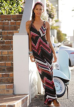 Strap Accent Maxi Dress product image (X30004RDST-00)