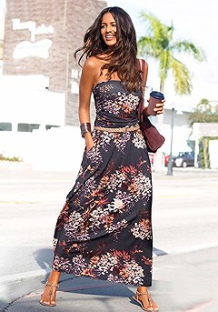 Floral Bandeau Maxi Dress product image (X30010-MUPR_00)