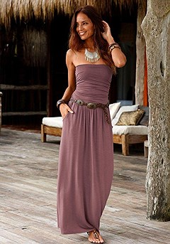 Smocked Bandeau Maxi Dress product image (X30011_BR_00)