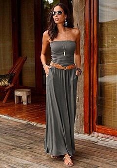 Smocked Bandeau Maxi Dress product image (X30011_OL_00)