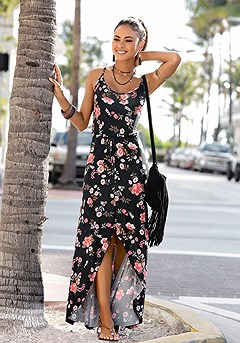 Floral Maxi Dress product image (X30016.BKMU.00)