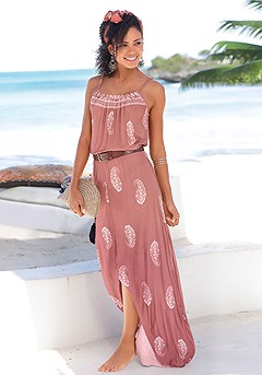 Paisley Maxi Dress product image (X30021-APWH-00)