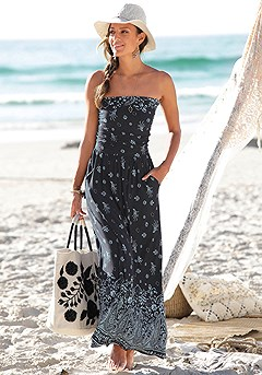 Bandana Print Maxi Dress product image (X30030-NVPR-00-S)