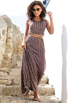 Polka Dot Maxi Dress product image (X30106BRMU_M)
