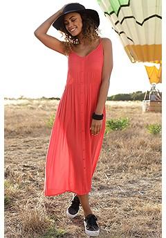 Boho Side Slit Maxi Dress product image (X30126RD_1)