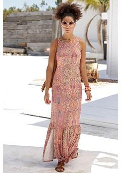 Tiered Boho Maxi Dress product image (X30127MUPR_1)