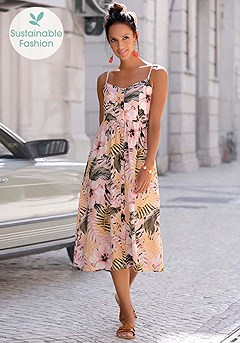 Button Up Panel Dress product image (X30132MUPR_1)