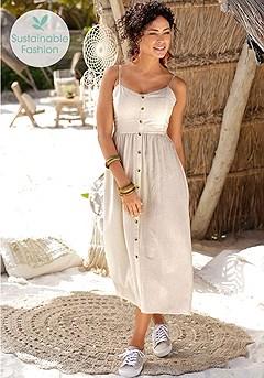 Button Up Panel Dress product image (X30132SA_1)