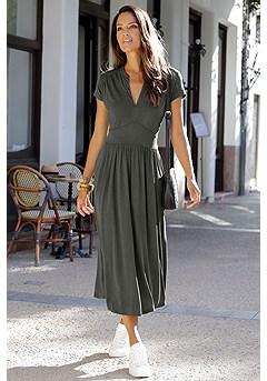Zip Up Maxi Dress product image (X30133KH_1)