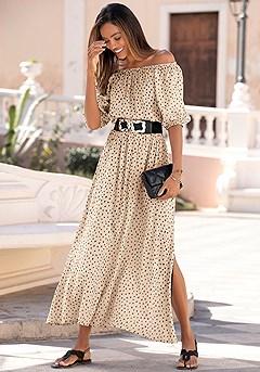 Off Shoulder Maxi Dress product image (X30145.TP_2)