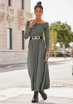 Ruched Maxi Dress product image (X30148-OL)