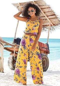 Floral Print Jumpsuit product image (X31012-YLMU-00)