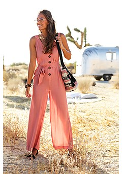 Sleeveless Tie Waist Jumpsuit product image (X31042-RD.1)