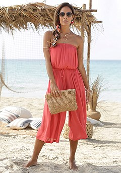 Strapless Culotte Jumpsuit product image (X31046RD_1)