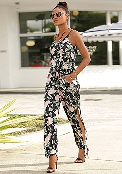 Sleeveless Floral Print Jumpsuit product image (X31050.MUPR.1.1)