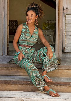 Patterned Wide Strap Jumpsuit product image (X31051.TQMU_01M)