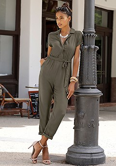 Short Sleeve Utility Jumpsuit product image (X31065KH_1)