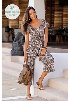 Floral Tie Waist Jumpsuit product image (X31067.BRMU_6)