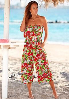 Floral Print Culotte Jumpsuit product image (X31080MU_1)