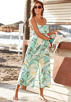 Empire Waist Culotte Jumpsuit product image (X31081CRPR_1)