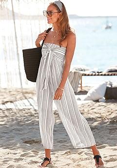 Tie Front Culotte Jumpsuit product image (X31082WHGY_1)