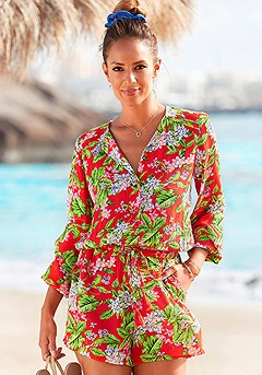 Floral Long Sleeve Romper product image (X32104MU_1)