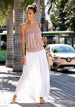 Flowy Maxi Skirt product image (X33001.POWD.X50002.WH_1M)
