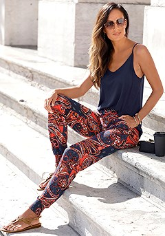 Patterned Pants product image (X33022.NV-X38012.NVRD)