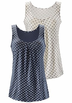 2 Pk Pattern Tank Tops product image (X33039BLOW_01)