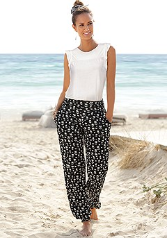 Patterned Pants product image (X33052.WH.X38012.BKPR.1)