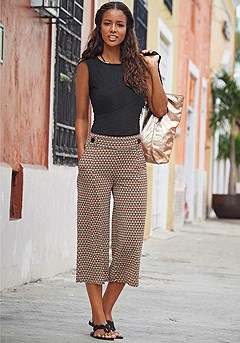 Button Waist Culottes product image (X33087_X38059)