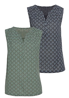 2 Pk Floral Tank Tops product image (X33090-BYNV-02-S)