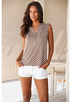 2 Pk Polka Dot Tops product image (X33093-TPWH-00)