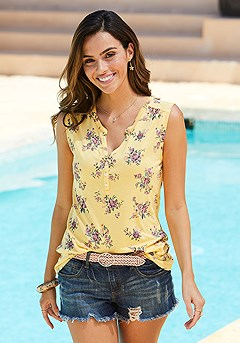 2 Pk Button Detail Tank Tops product image (X33269.YL_1)