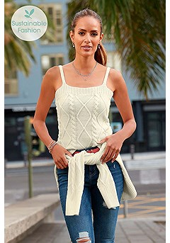 Knitted Sleeveless Top product image (X33293CR_1)