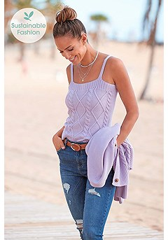 Knitted Sleeveless Top product image (X33293LI_1.1)