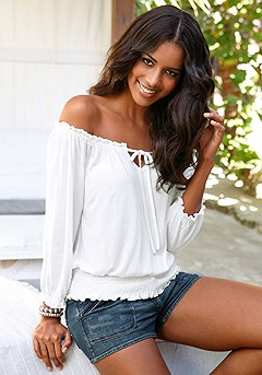 Off Shoulder Carmen Top product image (X34005-WH_01)