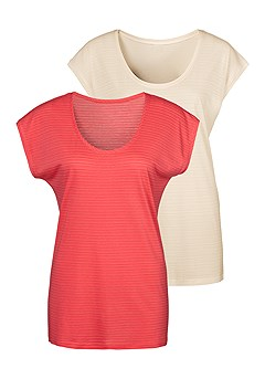 2 Pk Short Sleeve Tops product image (X34098COOW_2)