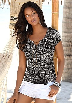 2 Pk Short Sleeve Tops product image (X34117-BKPR-01)