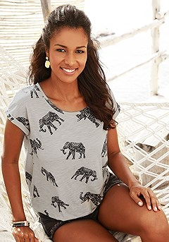 Elephant Print Top product image (X34131.1SS)